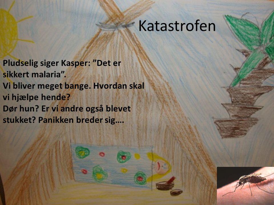 Katastrofen Pludselig siger Kasper: Det er sikkert malaria .