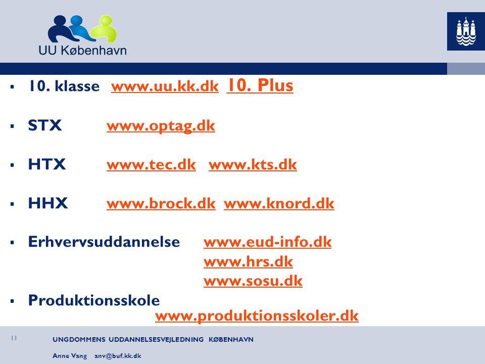HHX www.brock.dk www.knord.dk Erhvervsuddannelse www.eud-info.dk