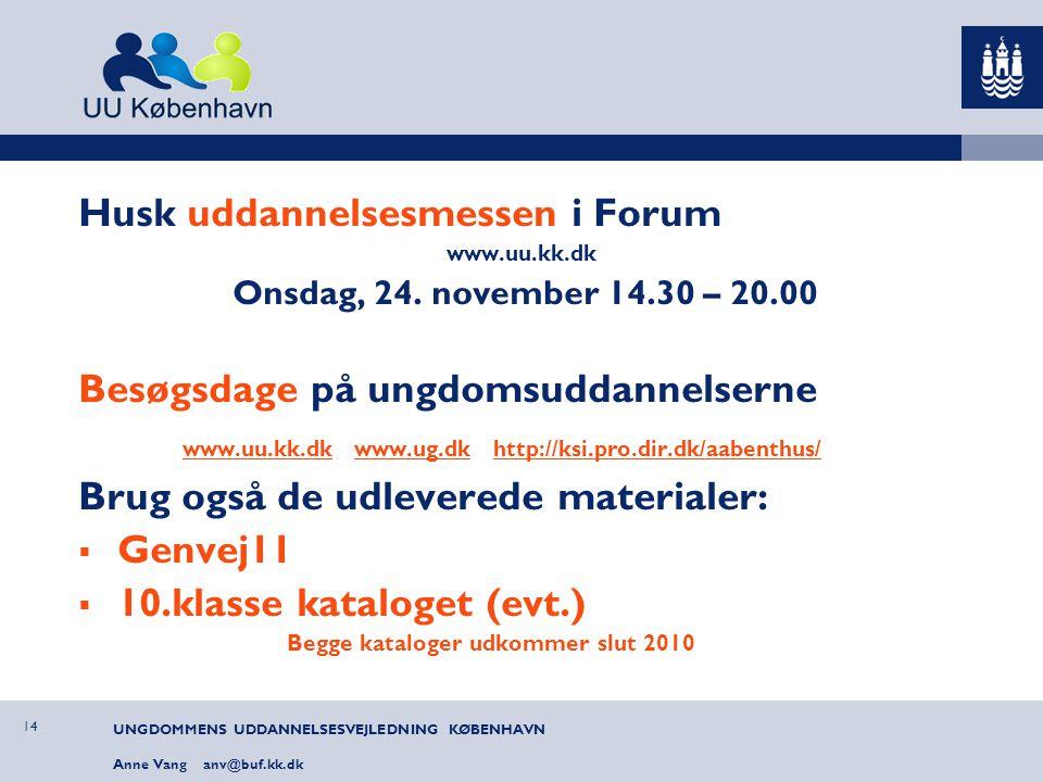 Husk uddannelsesmessen i Forum