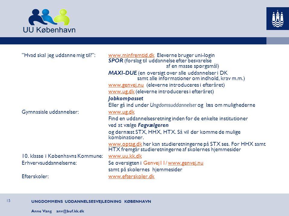 www.genvej.nu (eleverne introduceres i efteråret)
