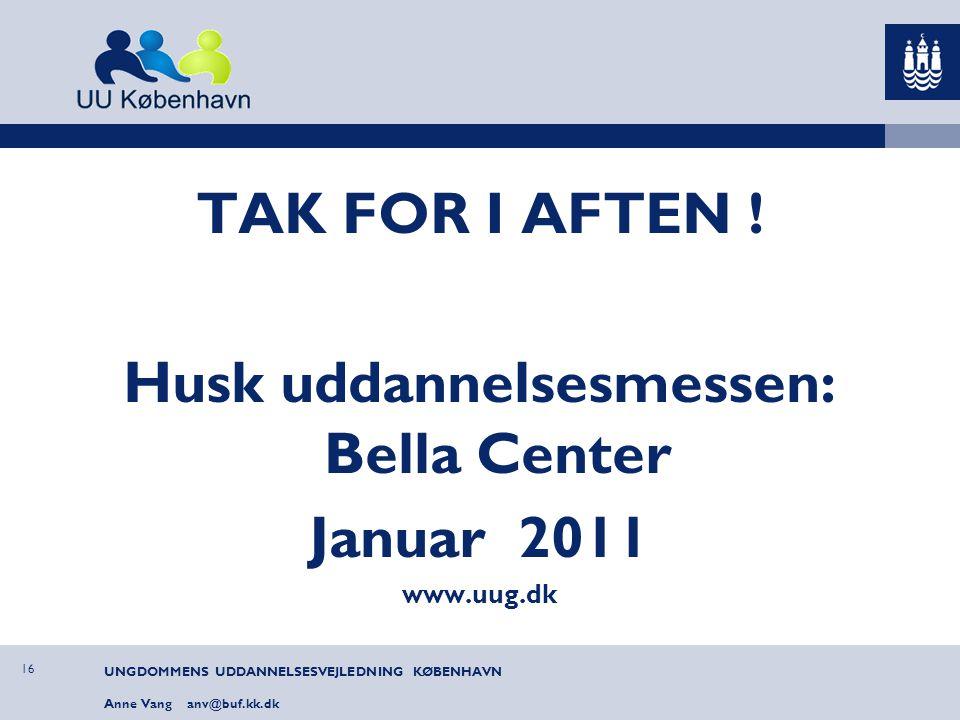 Husk uddannelsesmessen: Bella Center