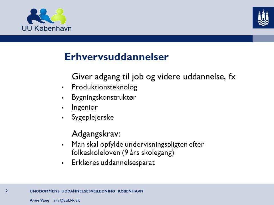 Erhvervsuddannelser Giver adgang til job og videre uddannelse, fx