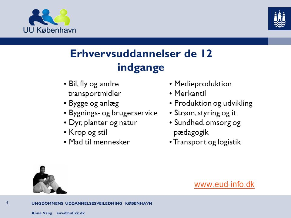 Erhvervsuddannelser de 12 indgange