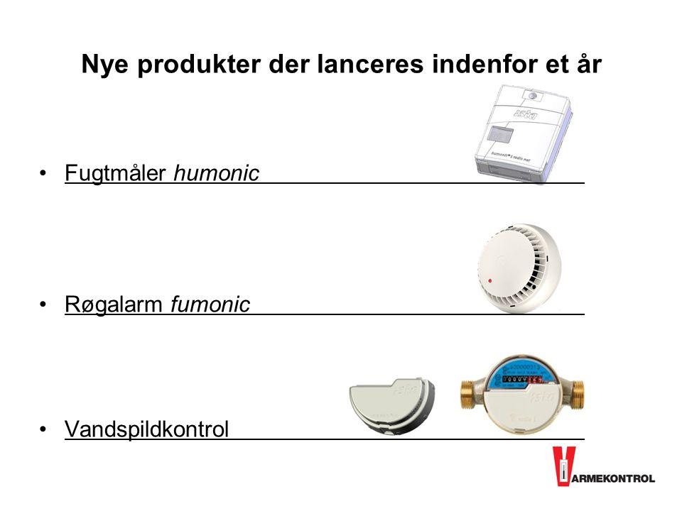 Nye produkter der lanceres indenfor et år