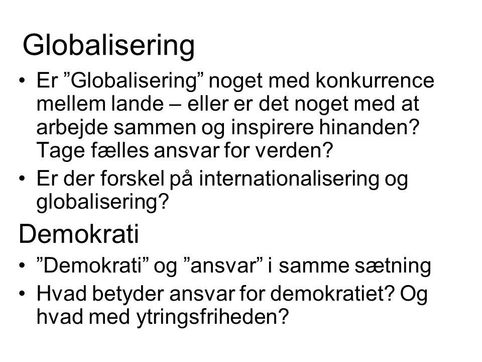 Globalisering Demokrati