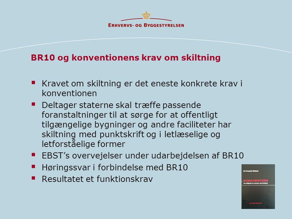 BR10 og konventionens krav om skiltning