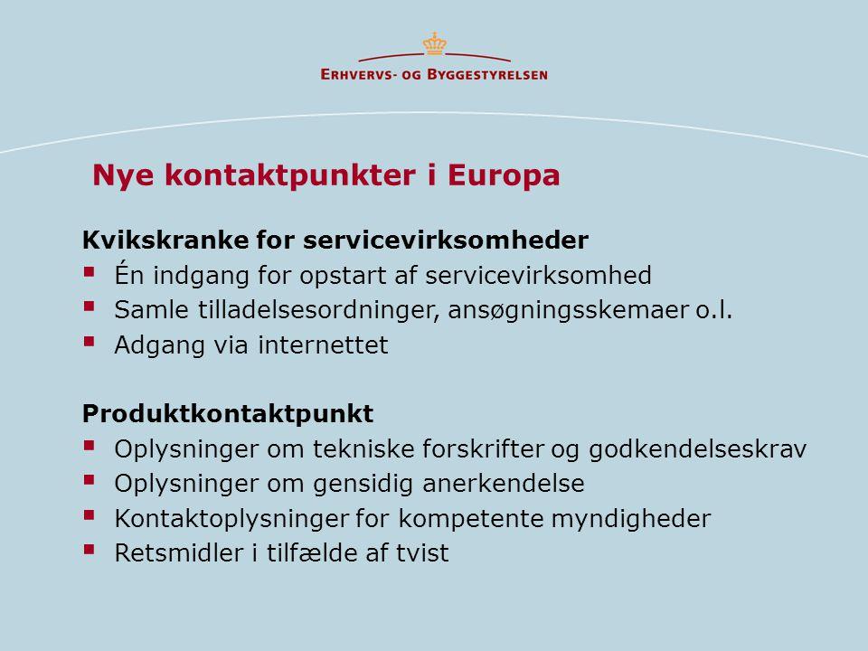 Nye kontaktpunkter i Europa