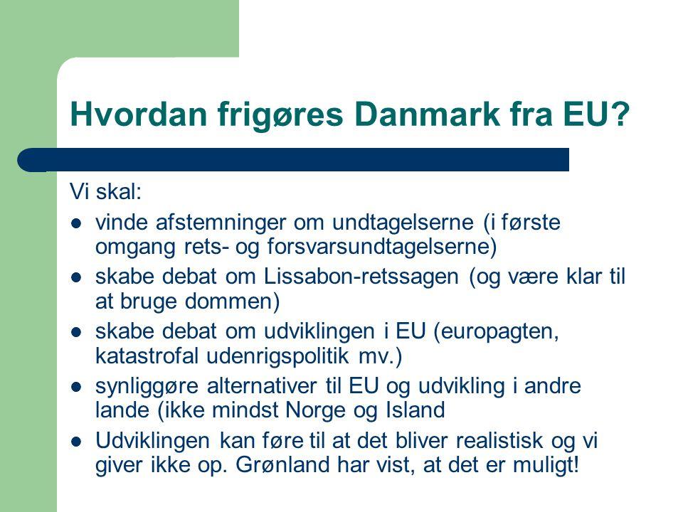 Hvordan frigøres Danmark fra EU