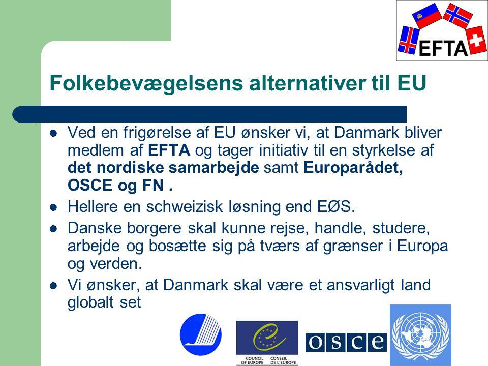 Folkebevægelsens alternativer til EU