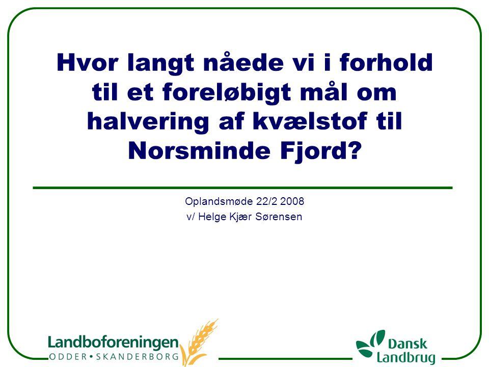 Oplandsmøde 22/2 2008 v/ Helge Kjær Sørensen