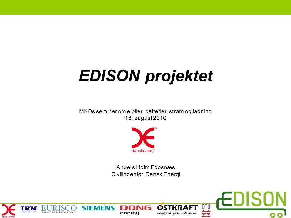 EDISON projektet MKDs seminar om elbiler, batterier, strøm og ladning