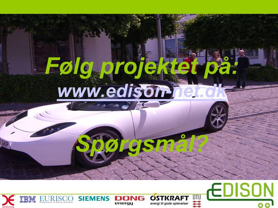 Følg projektet på: www.edison-net.dk Spørgsmål