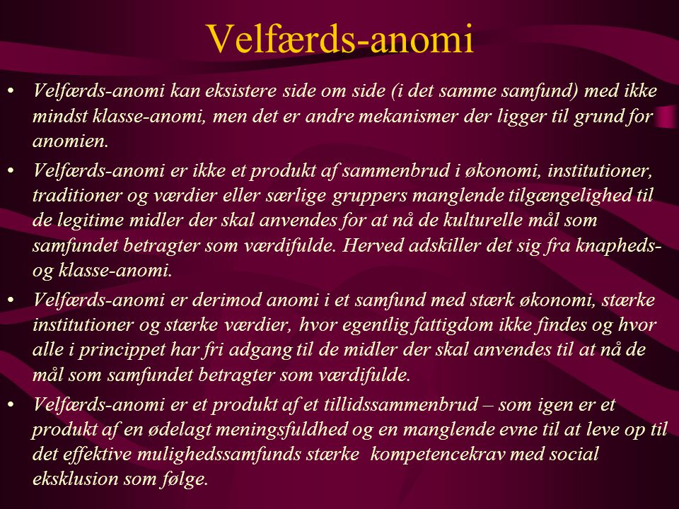 Velfærds-anomi