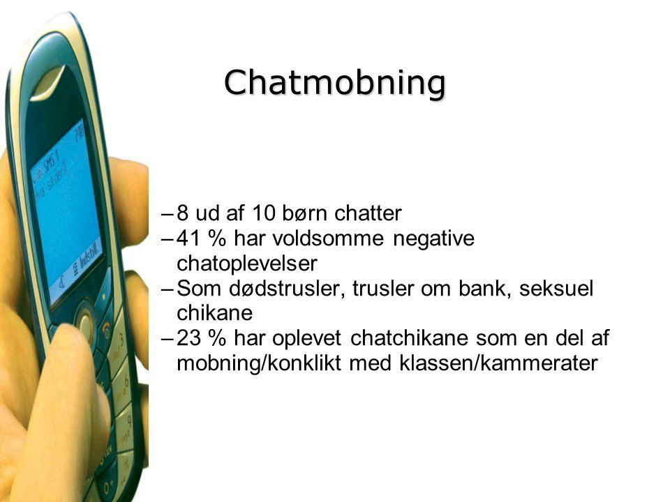 Chatmobning 8 ud af 10 børn chatter