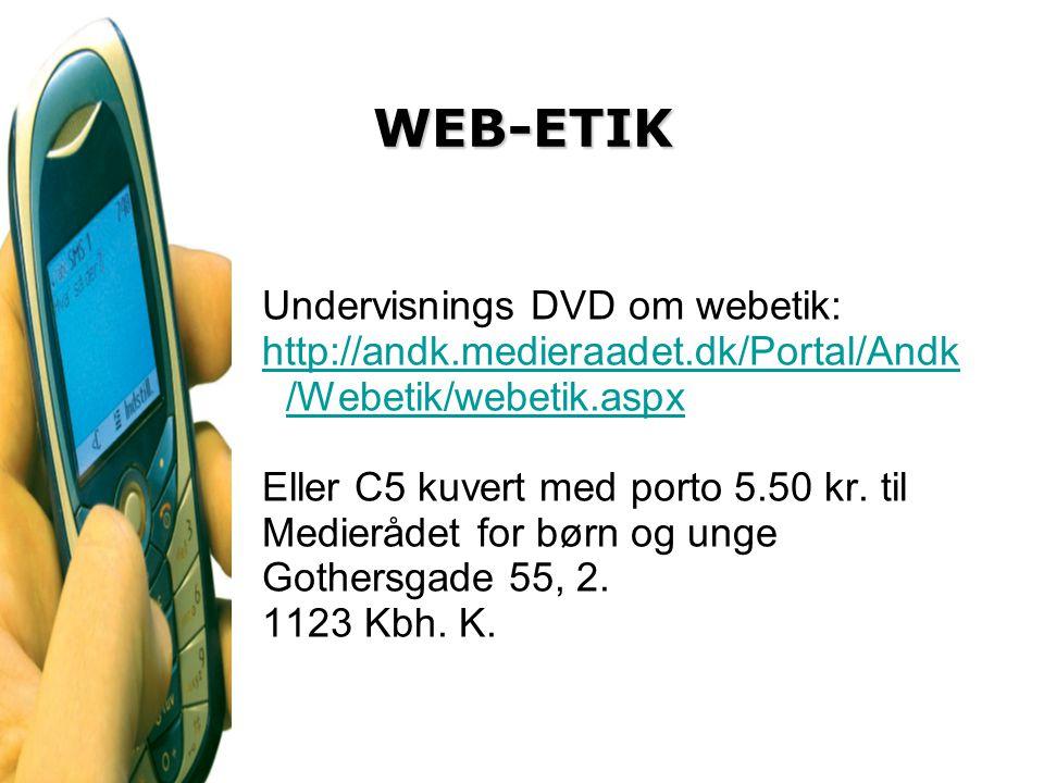 WEB-ETIK Undervisnings DVD om webetik:
