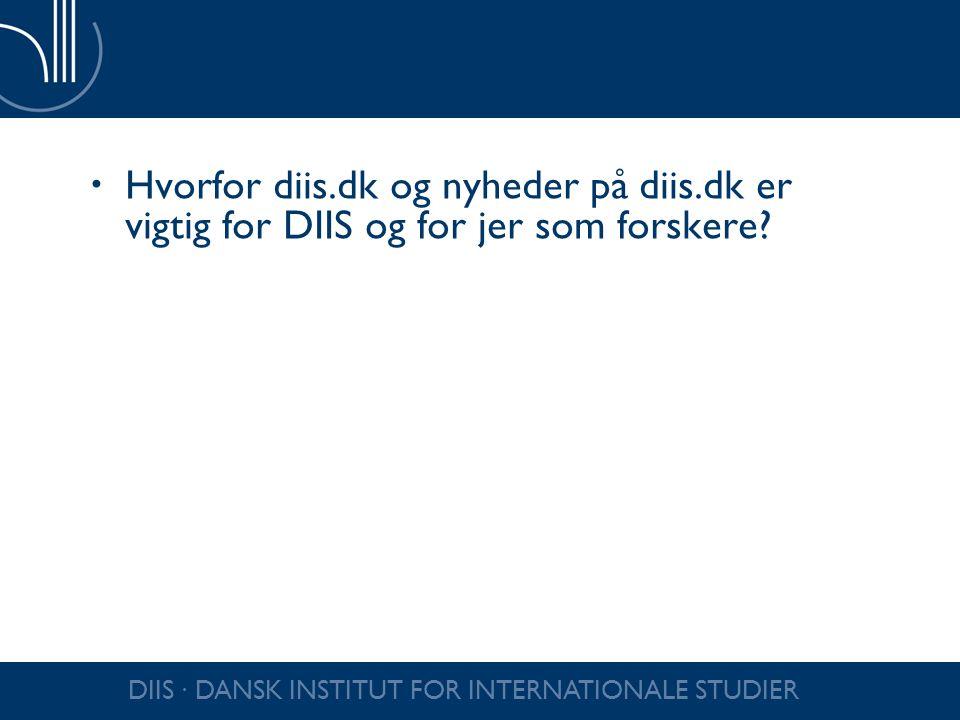Hvorfor diis. dk og nyheder på diis