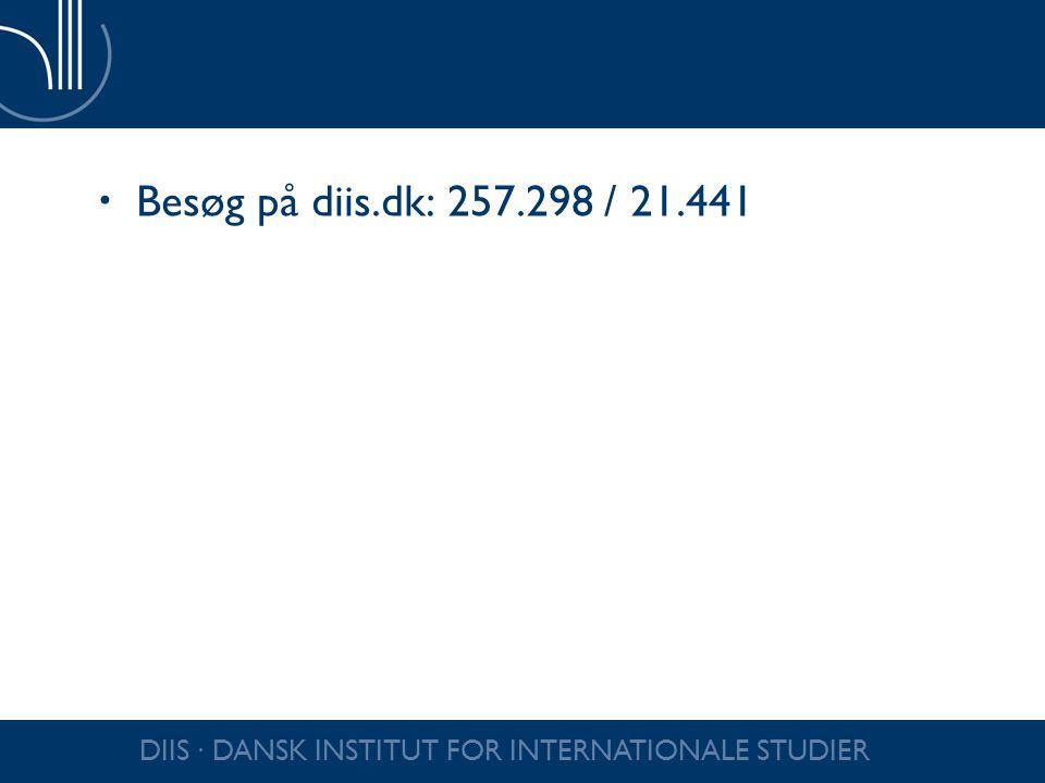 Besøg på diis.dk: 257.298 / 21.441 DIIS ∙ DANSK INSTITUT FOR INTERNATIONALE STUDIER