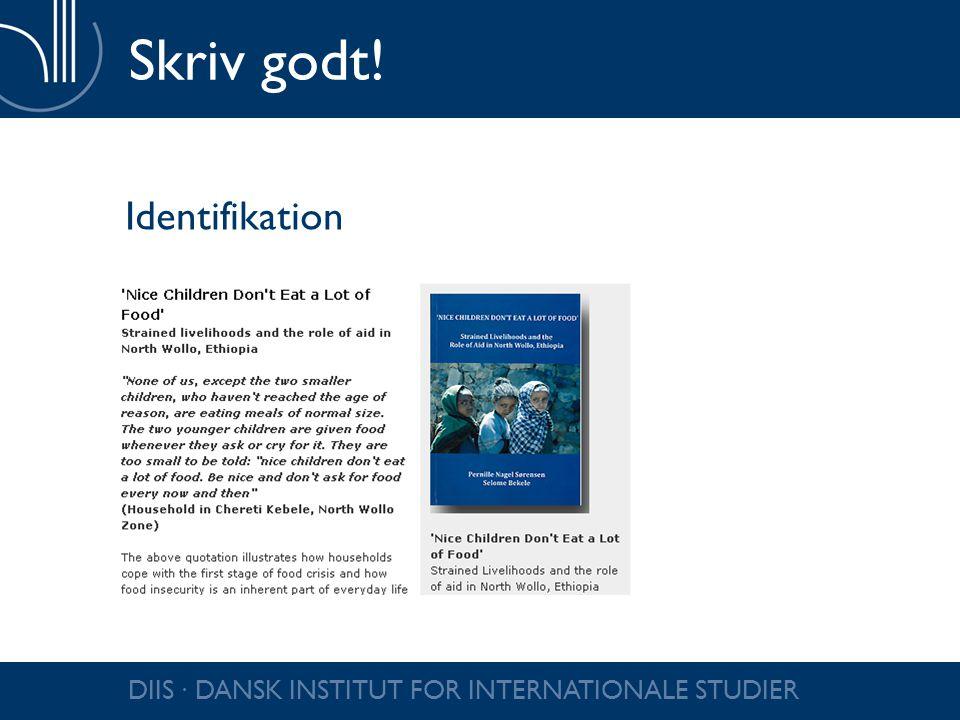 Skriv godt! Identifikation