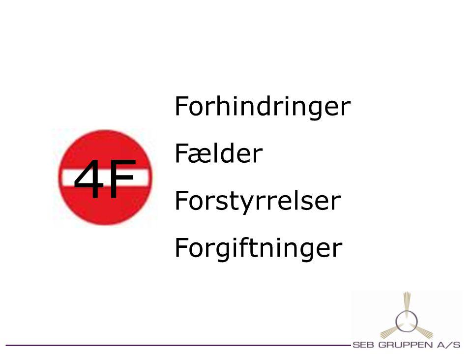 Forhindringer Fælder Forstyrrelser Forgiftninger 4F