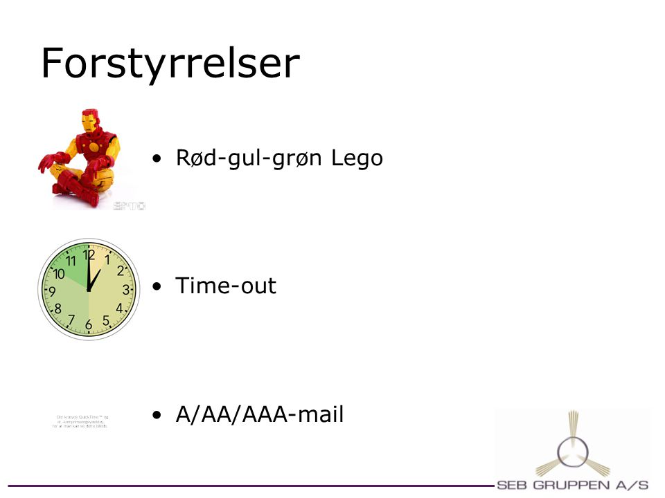 Forstyrrelser Rød-gul-grøn Lego Time-out A/AA/AAA-mail