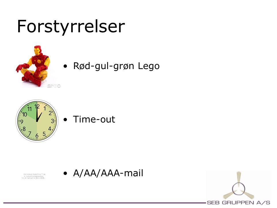 Forstyrrelser Rød-gul-grøn Lego Time-out A/AA/AAA-mail