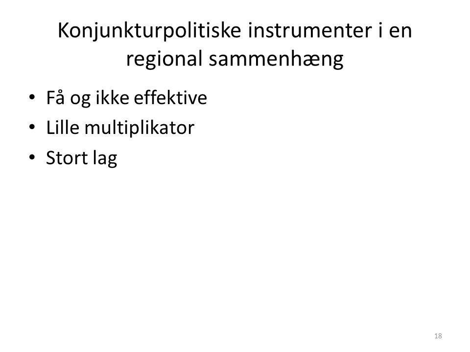 Konjunkturpolitiske instrumenter i en regional sammenhæng