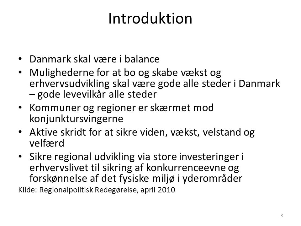 Introduktion Danmark skal være i balance