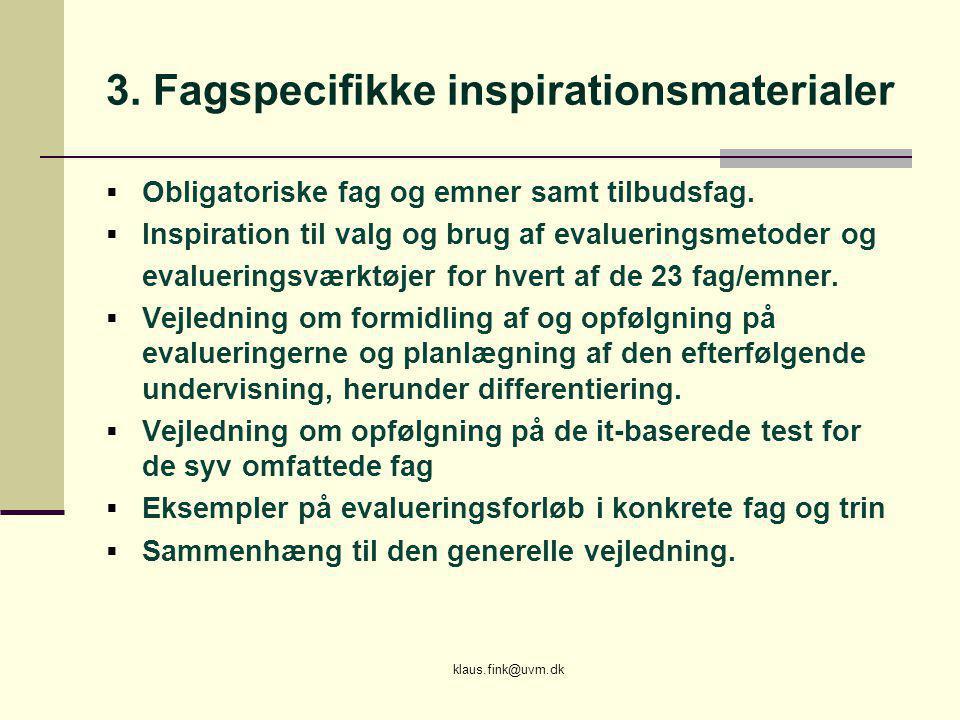 3. Fagspecifikke inspirationsmaterialer