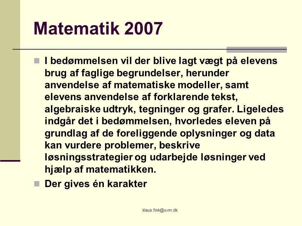 Matematik 2007