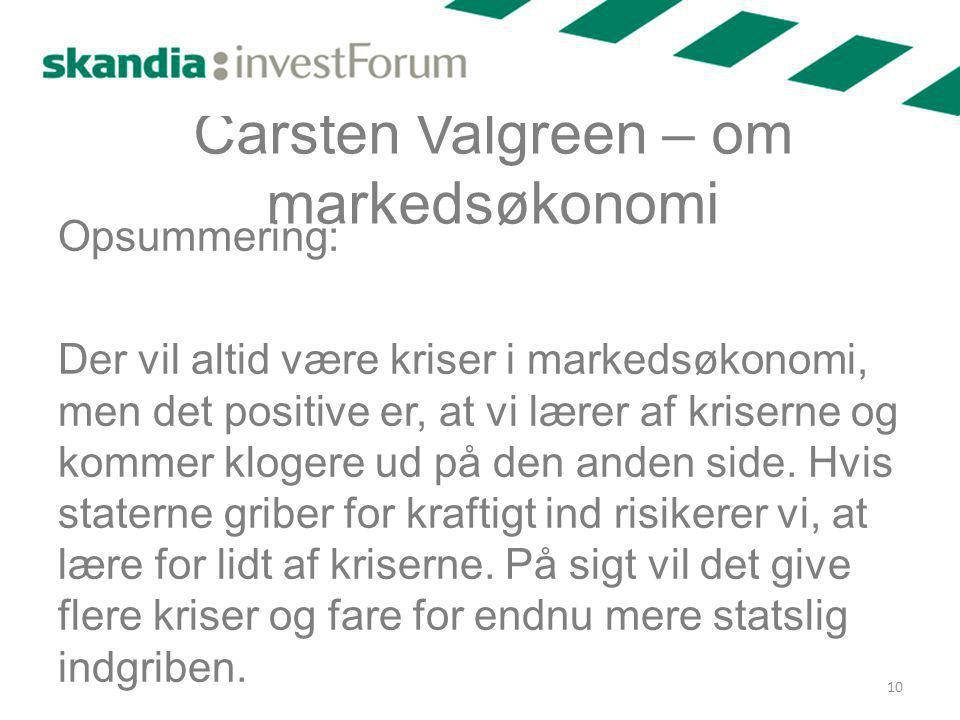 Carsten Valgreen – om markedsøkonomi