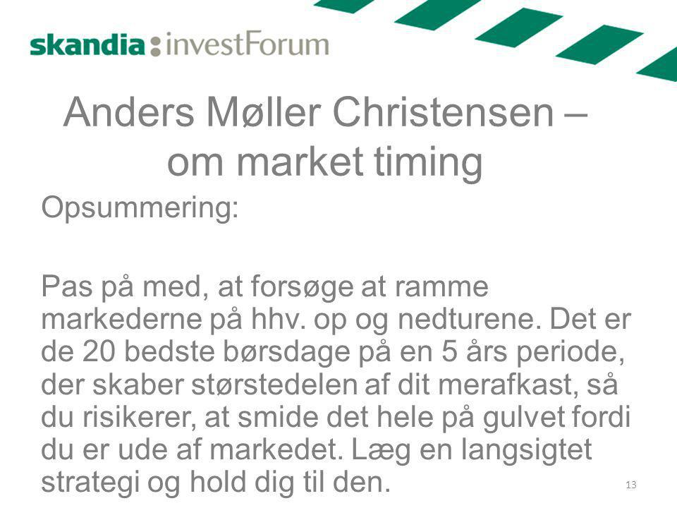 Anders Møller Christensen – om market timing
