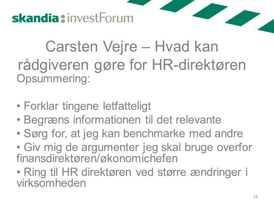 Carsten Vejre – Hvad kan rådgiveren gøre for HR-direktøren