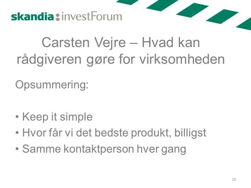 Carsten Vejre – Hvad kan rådgiveren gøre for virksomheden