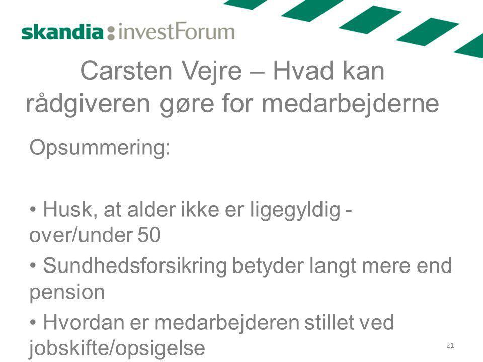 Carsten Vejre – Hvad kan rådgiveren gøre for medarbejderne