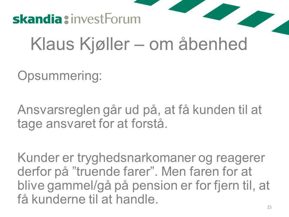 Klaus Kjøller – om åbenhed