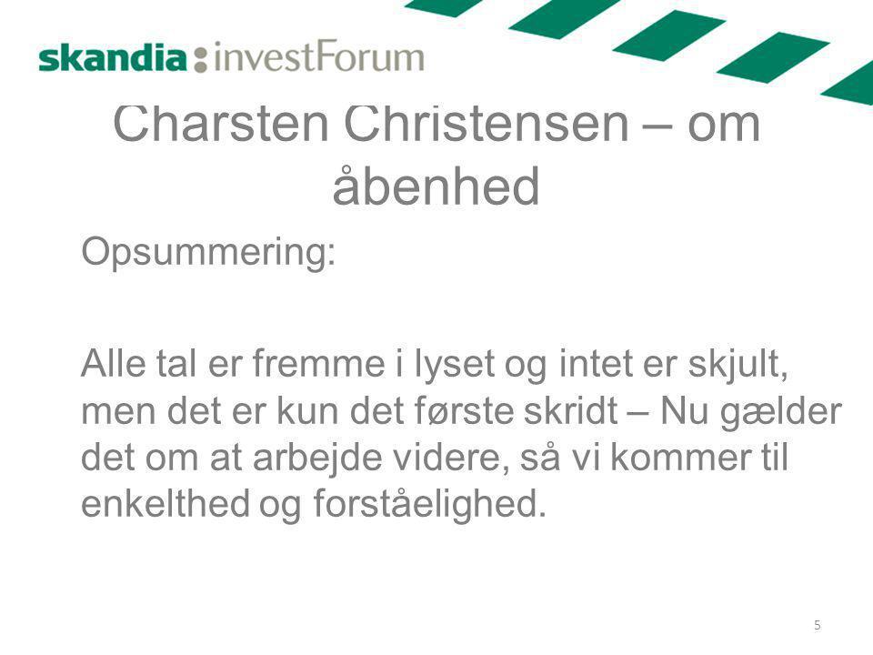 Charsten Christensen – om åbenhed