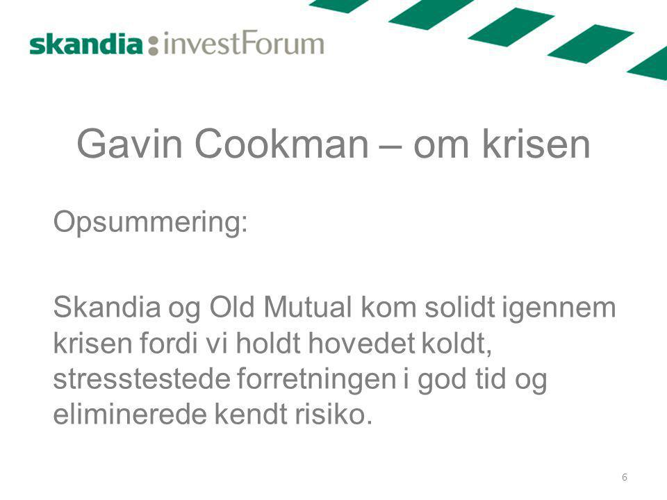 Gavin Cookman – om krisen