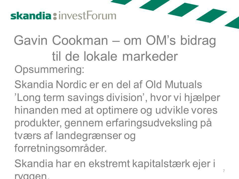 Gavin Cookman – om OM's bidrag til de lokale markeder