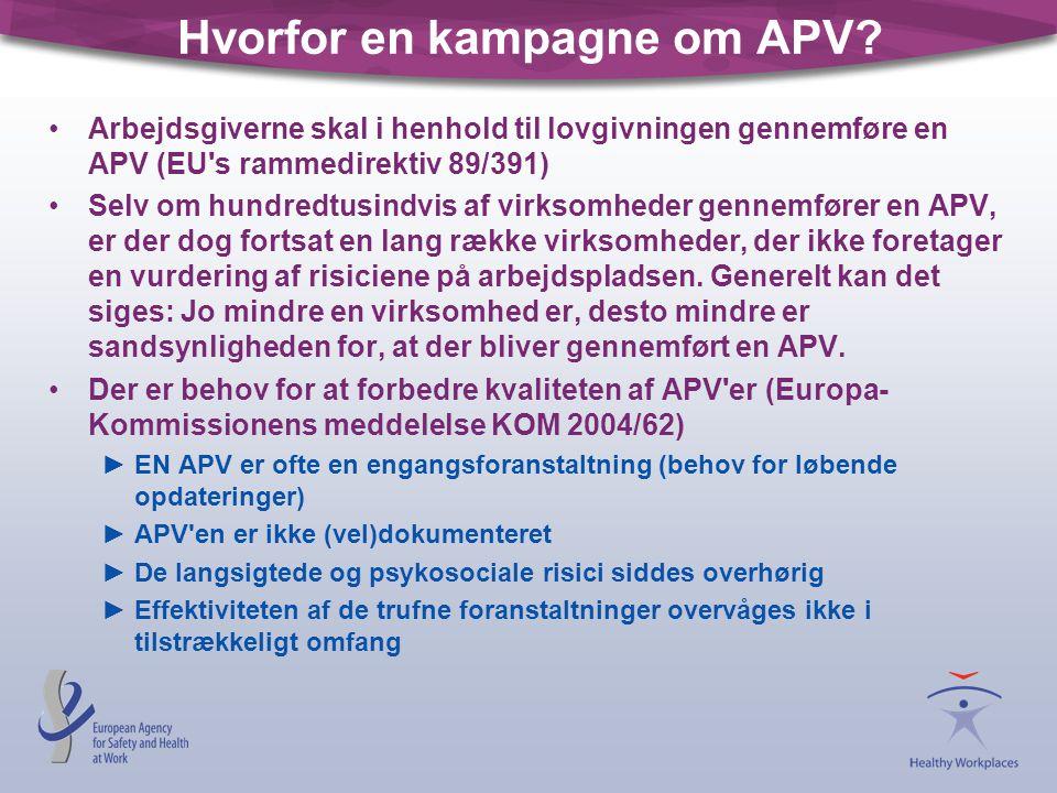 Hvorfor en kampagne om APV
