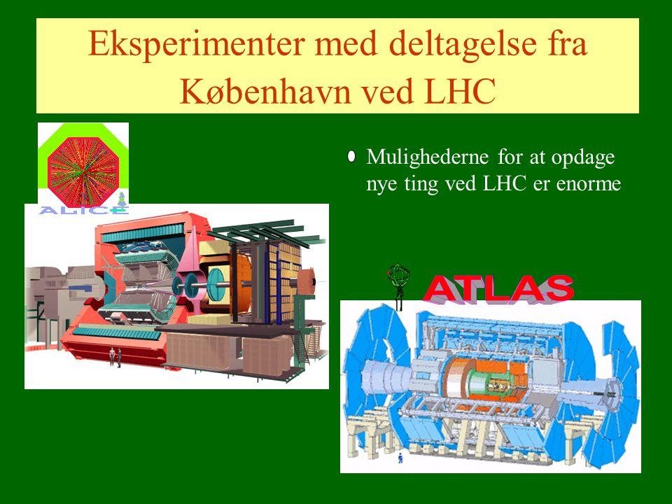 Eksperimenter med deltagelse fra København ved LHC