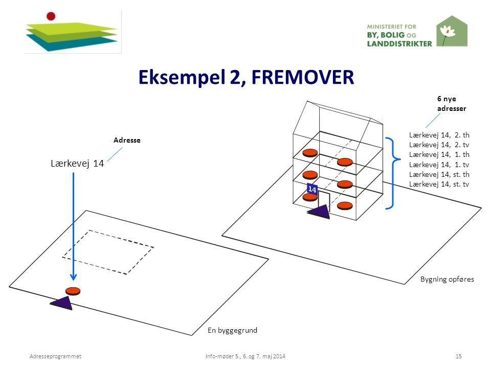 Eksempel 2, FREMOVER Lærkevej 14 Bygning opføres Lærkevej 14, 2. th