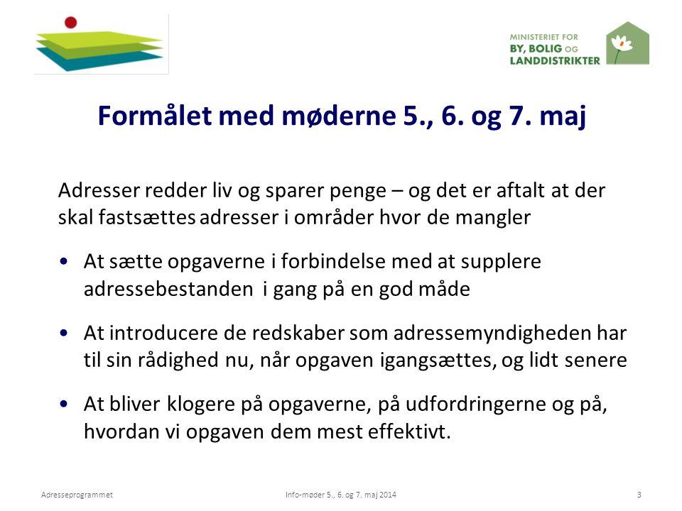 Formålet med møderne 5., 6. og 7. maj