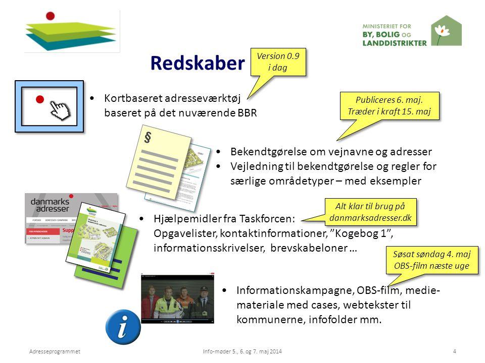 Redskaber Kortbaseret adresseværktøj baseret på det nuværende BBR §
