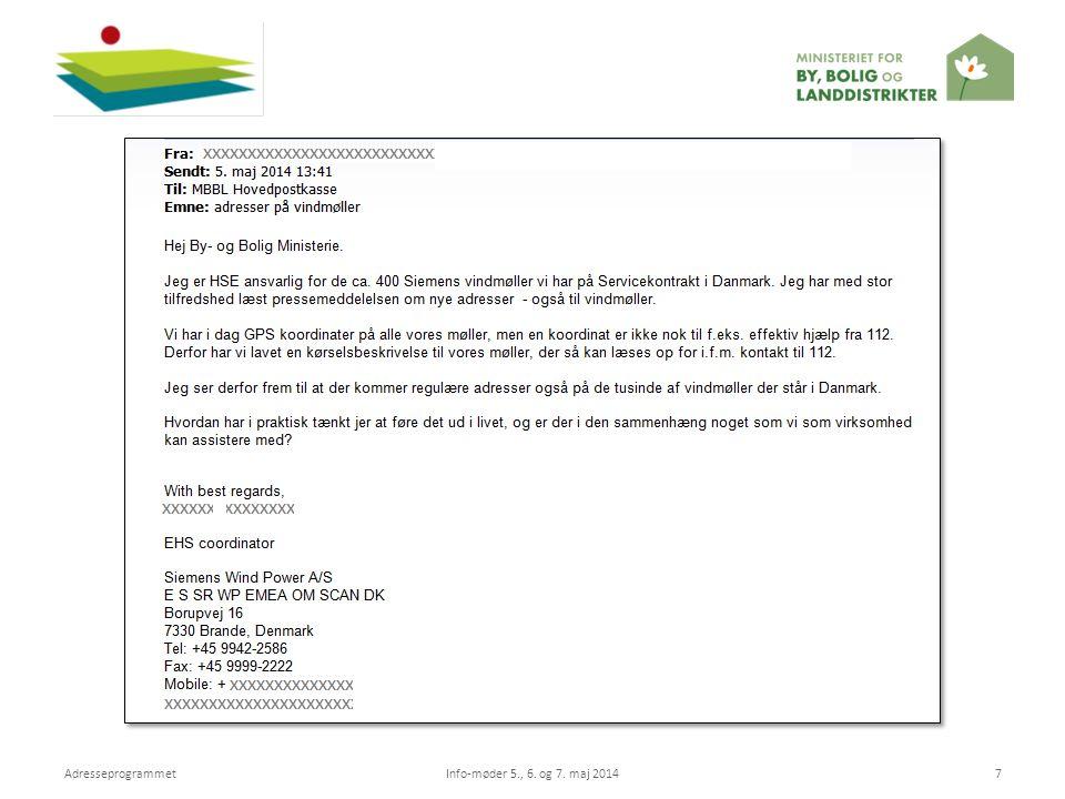 Adresseprogrammet Info-møder 5., 6. og 7. maj 2014