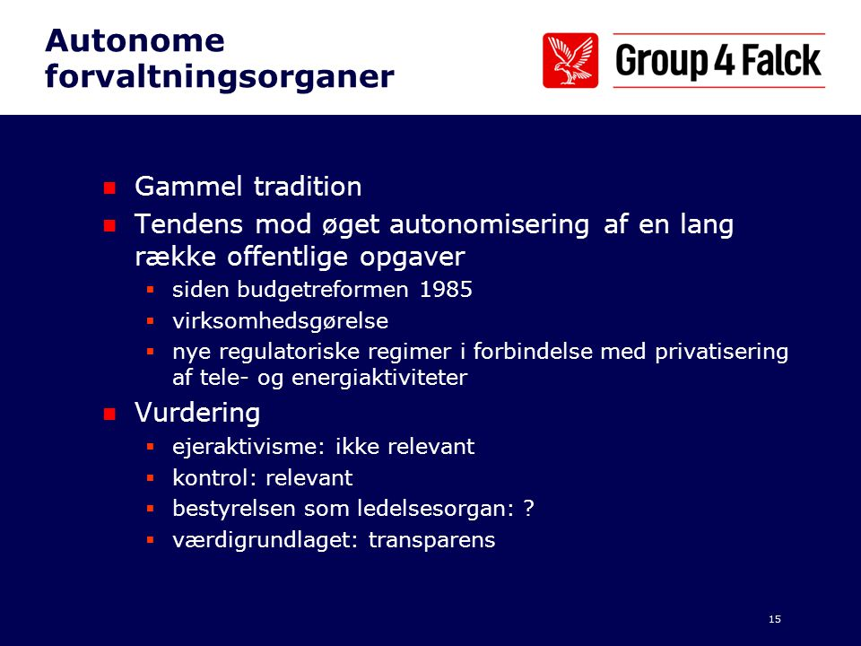 Autonome forvaltningsorganer