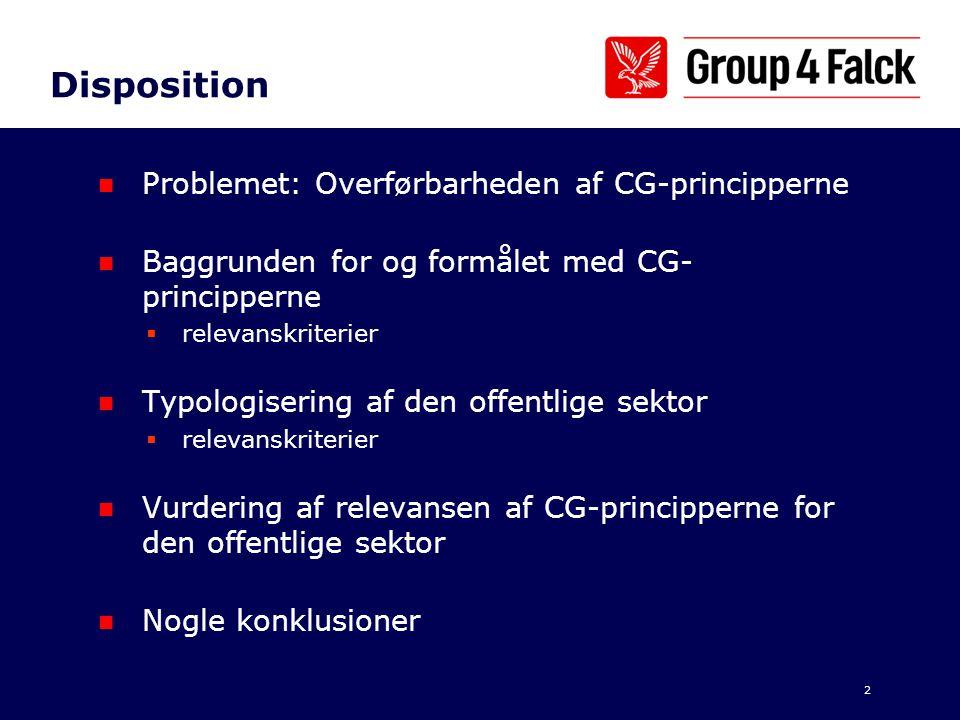 Disposition Problemet: Overførbarheden af CG-principperne