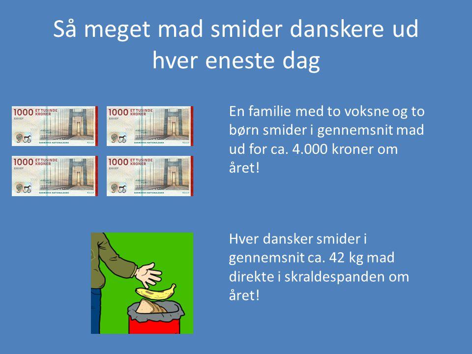 Så meget mad smider danskere ud hver eneste dag