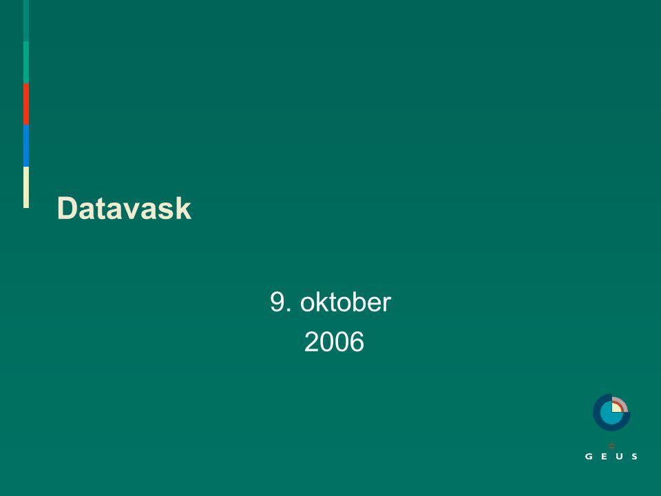 Datavask 9. oktober 2006
