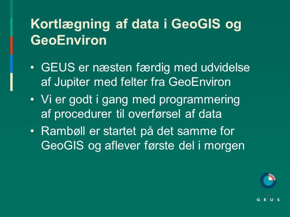 Kortlægning af data i GeoGIS og GeoEnviron