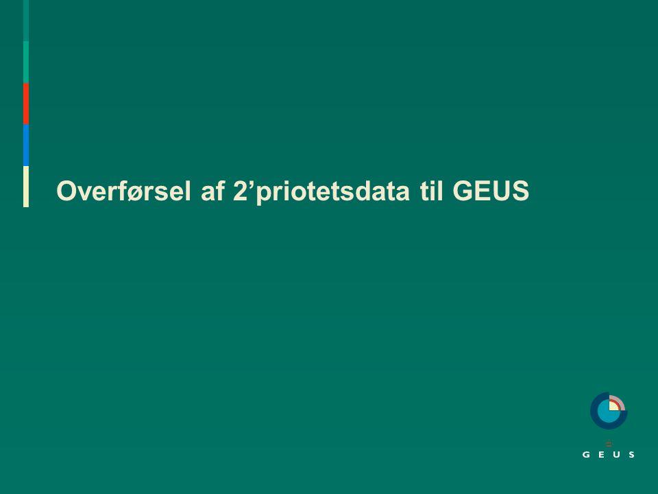 Overførsel af 2'priotetsdata til GEUS